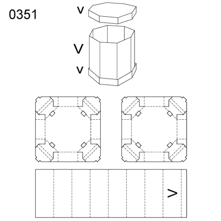 Obrázek z Krabice s víkem 0351