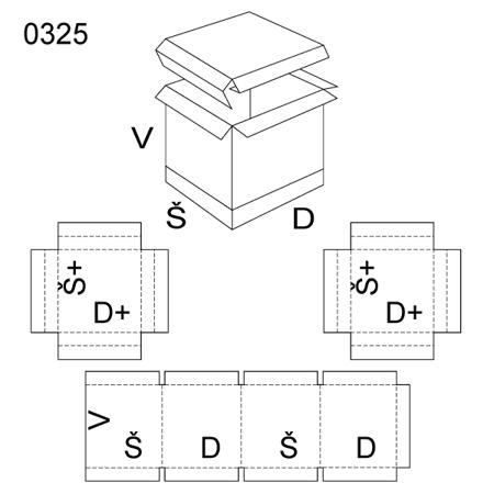 Obrázek z Krabice s víkem 0325