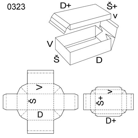 Obrázek z Krabice s víkem 0323