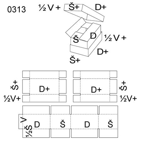 Obrázek z Krabice s víkem 0313