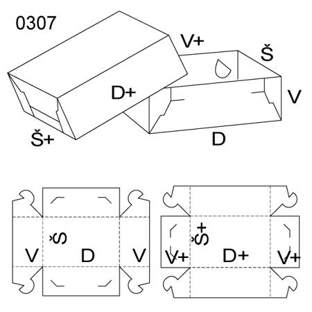 Obrázek z Krabice s víkem 0307