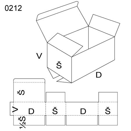 Obrázek z Klopová krabice 0212
