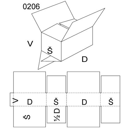 Obrázek z Klopová krabice 0206