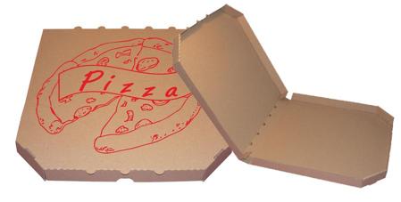 Obrázek z Pizza krabice, 40 cm, hnědo hnědá s potiskem