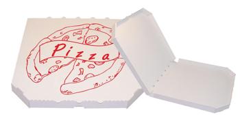 Obrázek Pizza krabice, 45 cm, bílo bílá s potiskem