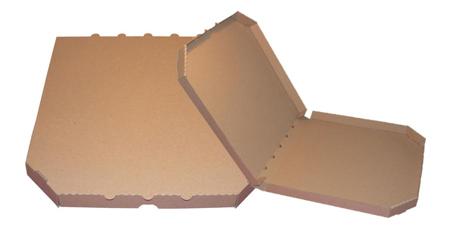 Obrázek z Pizza krabice, 30 cm, hnědo hnědá bez potisku
