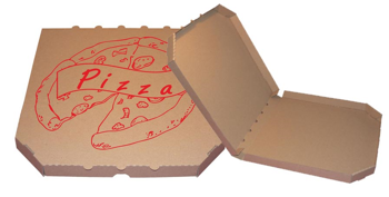 Obrázek Pizza krabice, 28 cm, hnědo hnědá s potiskem