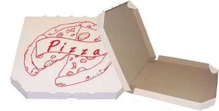 Obrázek z Pizza krabice, 28 cm, bílo hnědá s potiskem