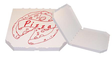 Obrázek z Pizza krabice, 28 cm, bílo bílá s potiskem