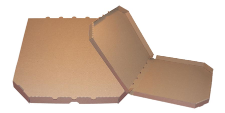 Obrázek z Pizza krabice, 28 cm, hnědo hnědá bez potisku
