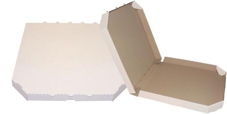 Obrázek z Pizza krabice, 28 cm, bílo hnědá bez potisku